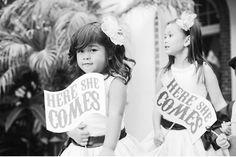 cute flower girl signs!