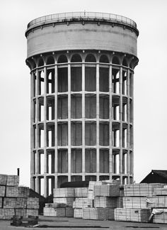 Gallery of Constructing Worlds: Photography and Architecture in the Modern Age - 22 Bernd and Hilla Becher Goole, Great Britain, Courtesy of Hilla Becher. Image Courtesy of Barbican Art Gallery Fascist Architecture, Architecture Design, Industrial Architecture, Classical Architecture, Landscape Architecture, Lebbeus Woods, Toyo Ito, Hilla Becher, British Journal Of Photography