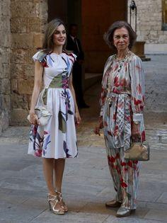 Dña. Letizia y Dña. Sofía en Palma