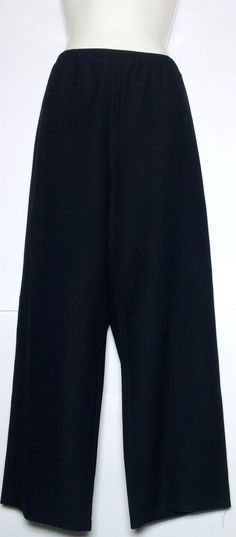 """Eileen Fisher D Elegant Black Pants 33"""" x  26""""  Wash Cold Tumble Dry #EileenFisher #AllOccasion SOLD"""