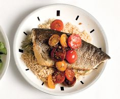 Rosemary Trout with Cherry-Tomato Sauce