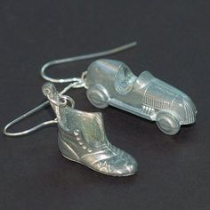 Monopoly Jewelry- Upcycled Vintage Game Token Earrings Shoe & Car - - Tanith Etsy