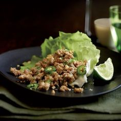 Thai Ground Pork Salad | At Thai restaurants, Tom Mylan usually requests a double order of larb (or laab), an addictive appetizer of ground meat spiked with chiles, lime juice and fish sauce and served with lettuce leaves for wrapping.
