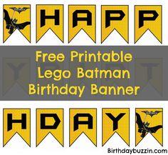 Free Printable Lego Batman birthday banner