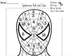 Spiderman Roll And Color Addition