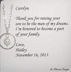 Thank you for raising the man of my dreams by SoBlessedDesigns, $38.00