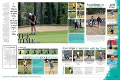 Golf Spread idea [The Pride, Starr's Mill High School, Fayetteville, GA] lots of coverage needed Yearbook Mods, Yearbook Class, Yearbook Pages, Yearbook Covers, Yearbook Layouts, Yearbook Design, Yearbook Theme, Yearbook Ideas, Student Life Yearbook