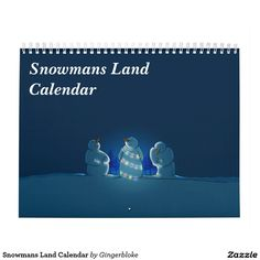 Snowmans Land Calendar :- Let the snowmen join you throughout the year. Each month features a unique snowman image that's sure to put a smile on your face! #snowman #calendar #winter #holiday #holidays #snow #snowmen #christmas #xmas #festive #seasonal #yuletide #fun #silly #art #childrenscalendars