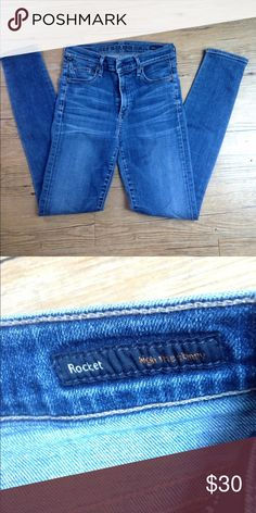 Citizens of Humanity Rocket Jeans Citizens of Humanity Rocket high rise skinny jeans. Size 27 but fit more like a 25. Inseam is 29. Super comfy and stretchy. Citizens of Humanity Jeans Skinny