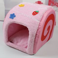 Lovely Pet House Dog Kennel Cat Beds Soft Cushion Inside Warm Room 3 Colors Cake Shaped (Strawberry) - http://www.thepuppy.org/lovely-pet-house-dog-kennel-cat-beds-soft-cushion-inside-warm-room-3-colors-cake-shaped-strawberry/