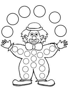 Coloriage clown jongleur dessiné par nounoudunord - Ð¡ Крещенским СочеРClown Crafts, Circus Crafts, Colouring Pages, Coloring Books, Preschool Crafts, Crafts For Kids, Theme Carnaval, Clown Party, Bird Template