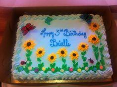 Birthday sheet cake from Mueller's Bakery!