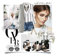 Black&White by ramona-ice on Color Of The Year, Polyvore Outfits, Acne Studios, Casual Chic, Work Wear, Warehouse, Stripes, Mango, Black And White