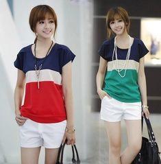 2colors S- XXXL blusa blusas femininas frete grátis cor vermelha blusas  tarja chiffon  3661555196fb5