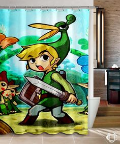 Legend of Zelda Triforce Games Shower Curtain