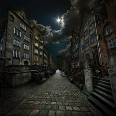 mariacka street - dark photography   --- I love photography on the darker side of things, the eerie or the abandoned look. if you do too, check out http://opacity.us  ... Mr. Motts photographs abandoned buildings and is absolutely WONDERFUL!