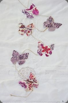 Guirlande papillons en Liberty