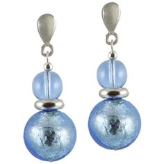 Venetian Murano glass earrings from Eternal Collection ($30) ❤ liked on Polyvore featuring jewelry, earrings, earring jewelry, earrings jewellery, murano glass jewelry, drop earrings and murano glass earrings
