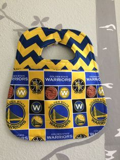 Bib for baby or toddler gender neutral NBA by WithAGrandmasLove