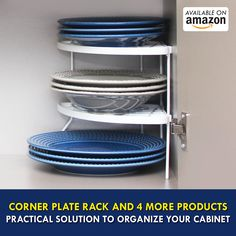 Corner Plate Rack and 4 More Products Practical Solution to Organize Your Cabinet for Only U & Practical Solution To Organize Your Cabinet: Corner Plate Rack and 4 ...