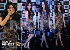 Bipasha Basu, who stunned everyone on the first poster of upcoming thriller Raaz 3, looked gorgeous in a body con black lace dress with nude underlay at the launch of the film's trailer.