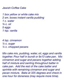 Easy Jewish Coffee Cake (with yellow cake mix)