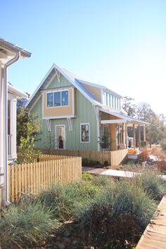 Adair Cottage at Carlton Landing on the boardwalk. Lake house in progress. #oklahoma #lakehouse #newurbanism #carltonlanding www.carltonlanding.com