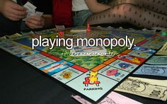 playing monopoly IF I HAVE A CHANCE OF WINNING!
