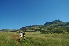 Breathtaking scenery during a long walk in KwaZulu-Natal