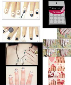 [Visit to Buy] New Nails Decal Rhinestones & Decorations French Manicure Nail Art Tips Tape Sticker Guide Stencil Diy Accessories #Advertisement