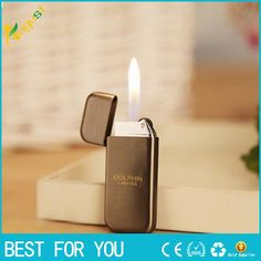 100pcs/lot creative small butane lighter for kitchen or gift  wheel usb cigarette cigar USB Lighter Electroplated thin grinding