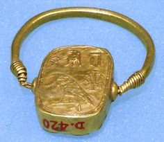 Ring, plaque  Period: Third Intermediate Period or later Date: ca. 1070–664 B.C. Geography: Egypt Medium: Gold