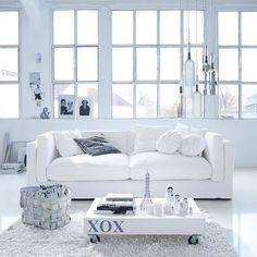 Sofa, 3-Sitzer, inkl. 3 Zierkissen, abnehmbare Bezüge, Baumwollbezug Vorderansicht