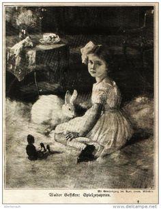 """Spielgefährten (Walter Beffcken)   -  Druck , entnommen aus """"Die Gartenlaube """", 1920"""