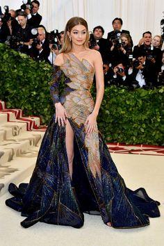 Gigi Hadid wearing Versace.