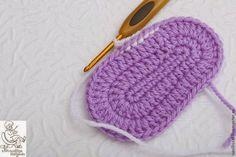 crochelinhasagulhas: Botines de color rosa y púrpura de ganchillo parte II
