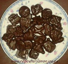 Bombones crujientes de chocolate
