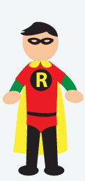 DIY Halloween Costume: Robin - First things first, you need an eye mask- you can get this at a craft store. Wear a long sleeve green shirt, with a red t-shirt over it. Wear red underwear over black pants/leggings or spray paint jeans green. Get black felt (from the craft store), cut out a big R and glue it on your shirt.