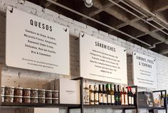 These nice and simple black and white restaurant graphics are so easy yet effective.