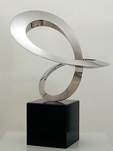 'World Within ' Stainless Steel Sculpture from James Russell.