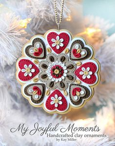 Handcrafted Polymer Clay Ornament by MyJoyfulMoments on Etsy