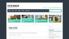 Oceanus WordPress Theme by Fab Themes. 14 Flat Free #WordPress Themes