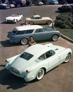 GM Concepts  based off the Chevrolet Corvette. Presenting the mainstay of the 1954 Motorama show cars.