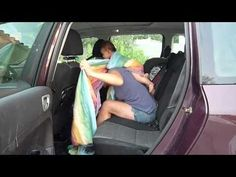 This mom made a video showing how she wraps her baby in the backseat of the car. This is a great trick for wet or super cold weather, or anytime you don't want to drag your wrap ends while you wrap! Postpartum Blues, Baby Wearing Wrap, Baby Carrying, Toddler School, Baby Bling, Skin To Skin, Woven Wrap, Baby Carriers, Attachment Parenting