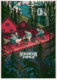 Stranger things illustration by Karl James Mountford Stranger Things Tumblr, Stranger Things 2017, Stranger Things Aesthetic, Wallpapers Tumblr, Fan Art, Illustrations Posters, Illustration Art, Poster Prints, Drawings