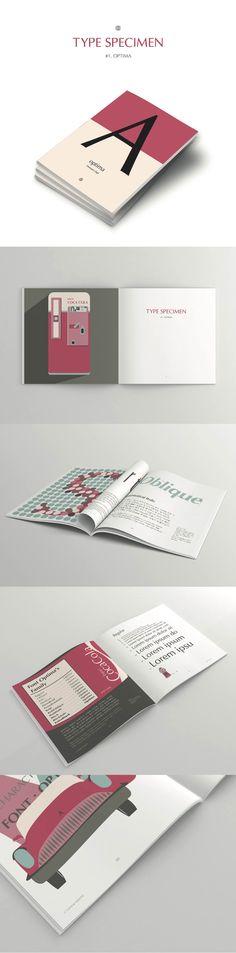 Project about type specimen Optima designed by Hermman Zapf illustrate design / graphic design / editorial design / typography design