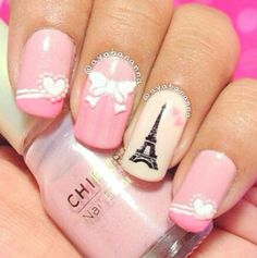 Cute I Love Paris Nail Art Collections Nails And Collection