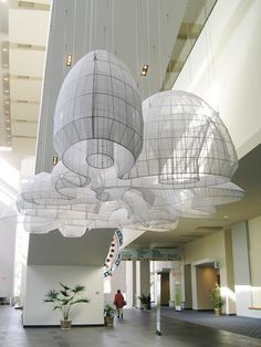 Kendall Buster, Artist, Parabiosis II, commissioned for Washington DC Convention Center Ceiling Design, Lamp Design, Interior Lighting, Lighting Design, Interior Architecture, Interior And Exterior, Interior Inspiration, Design Inspiration, Instalation Art