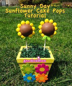 Pint Sized Baker: Sunflower Cake Pops