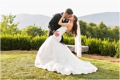 Heather Chipps Photography - Virginia Photographers - Kissing bride and groom photo